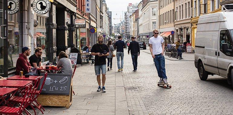 Street design in Torggata Oslo